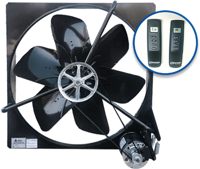 Fanman's fans are simply the best, and the included remotes add the utmost in convenience